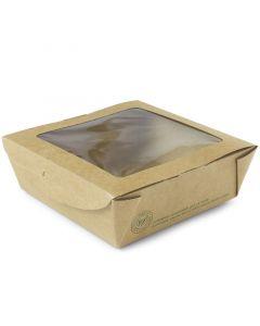 Vegware Medium Window Salad Box 22oz - Compostable