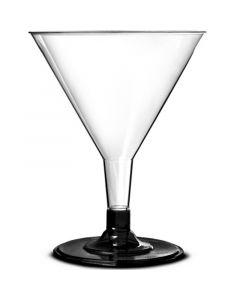 Disposable Black Base Polystyrene Martini Glass 5.5oz