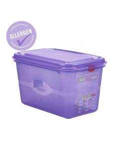 Allergen GN Storage Container 1/4 150mm Deep 4.3L