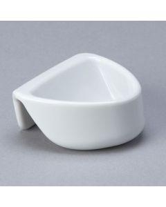 Attachable Plastic Dipper Pot White