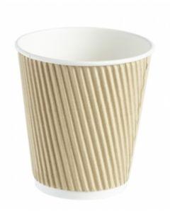 10oz Squat Kraft Ripple Wall Hot Drink Cup