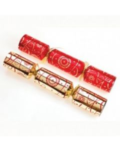 """14"""" Red & Gold Luxury Crackers"""