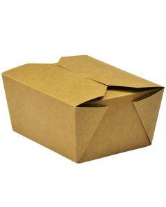 Vegware No.1 Food Carton 700ml (11 x 9 x 6.5cm) - Compostable