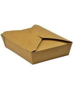 Vegware No.2 Food Carton 1500ml (19.5 x 14 x 5cm) - Compostable