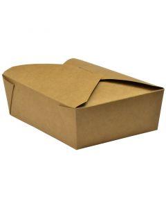 Vegware No.3 Food Carton 1800ml (19.5 x 14 x 6.5cm) - Compostable
