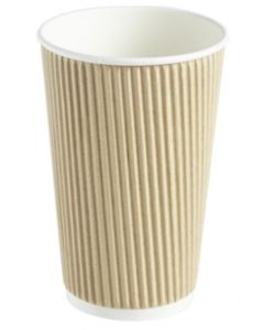 12oz Kraft Ripple Wall Hot Drink Cup