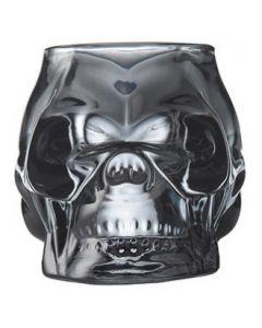 "Smoked Skull Votive Candle Holder 4"""