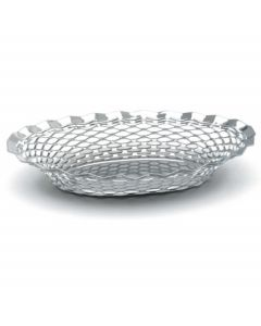 """Stainless Steel Oval Basket 11.3/4"""" x 9.1/4"""""""