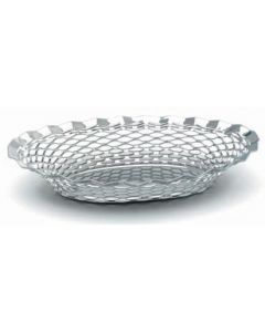 """Stainless Steel Oval Basket 9.1/2"""" x 7"""""""