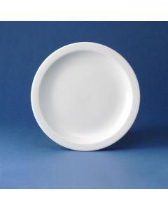 """Churchill Vitrified Nova - 10"""" White Plate"""