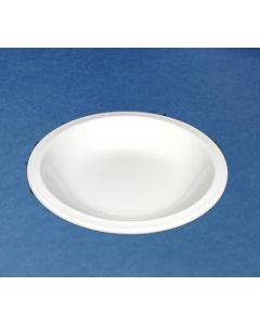Churchill Vitrified Nova - 17.2oz White Rimmed Soup Plate