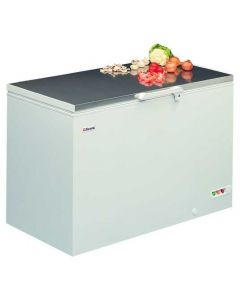 Elcold Steel Lid Chest Freezer 447 Litre (W1300 X D730 x H860mm)