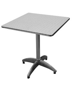Stainless Bistro Table Square