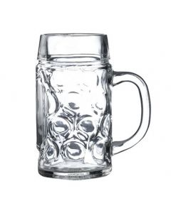 Dimpled Beer Stein Glass 24oz