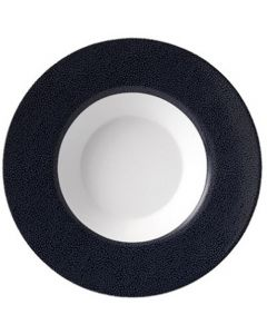 Purity Pearls Dark Rimmed Bowl 17.5oz