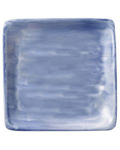 """Modern Rustic Blue - Flat Square Plate 6"""""""
