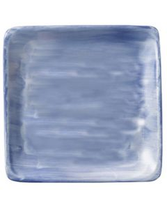 """Modern Rustic Blue - Flat Square Plate 8.4"""""""