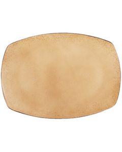 "Modern Rustic - Rectangular Platter Natural Sand 11"""
