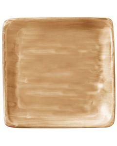 "Modern Rustic Sand - Flat Square Plate 8.4"""