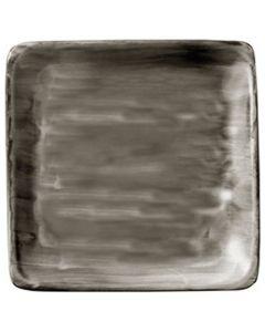 "Modern Rustic Wood - Flat Square Plate 6"""