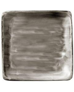 "Modern Rustic Wood - Flat Square Plate 8.4"""