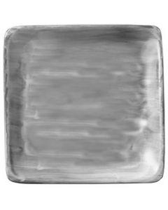 "Modern Rustic Grey - Flat Square Plate 6"""
