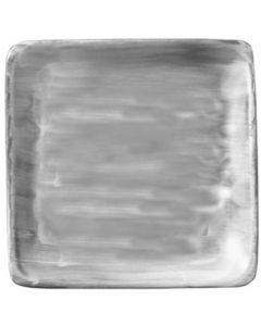"Modern Rustic Grey - Flat Square Plate 8.4"""