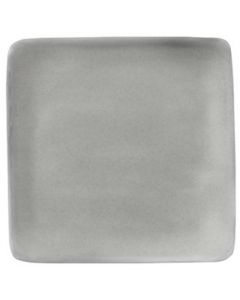 "Modern Rustic - Flat Square Plate Stone 8.4"""