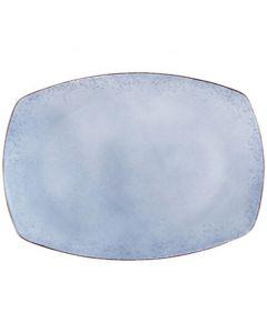 """Modern Rustic - Rectangular Platter Natural Blue 11"""""""
