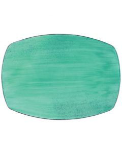 "Modern Rustic - Rectangular Platter Rustic Lagoon 11"""