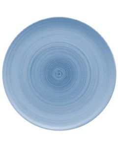 """Modern Rustic Blue - Flat Coupe Plate 8"""""""
