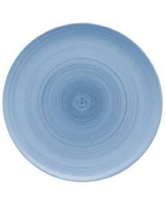 """Modern Rustic Blue - Flat Coupe Plate 10.4"""""""