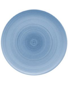 """Modern Rustic Blue - Flat Coupe Plate 11.2"""""""
