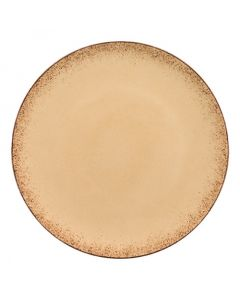 """Modern Rustic - Flat Coupe Plate Natural Sand 11"""""""