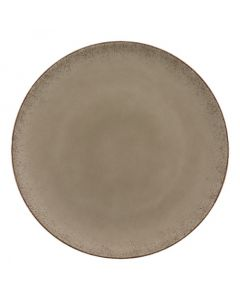 """Modern Rustic - Flat Coupe Plate Natural Wood 11"""""""