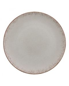 """Modern Rustic - Flat Coupe Plate Natural Gray 11"""""""