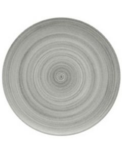 """Modern Rustic Grey - Flat Coupe Plate 6"""""""