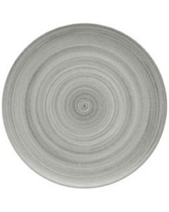 """Modern Rustic Grey - Flat Coupe Plate 8"""""""