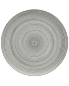 """Modern Rustic Grey - Flat Coupe Plate 10.4"""""""