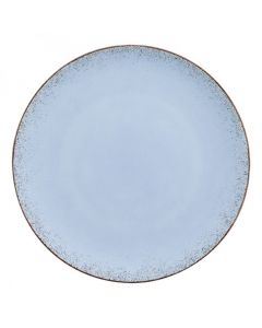 """Modern Rustic - Flat Coupe Plate Natural Blue 11"""""""