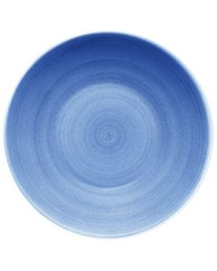 """Modern Rustic Blue - Deep Coupe Plate 9.6"""""""