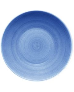 """Modern Rustic Blue - Deep Coupe Plate 12"""""""