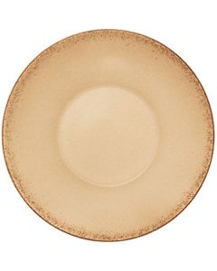"""Modern Rustic - Deep Coup Plate Natural Sand 9.6"""""""