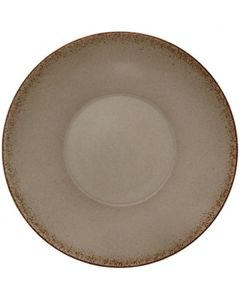 """Modern Rustic - Deep Coupe Plate Natural Wood 9.6"""""""