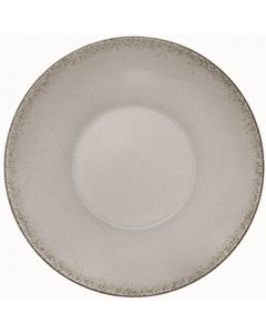 """Modern Rustic - Deep Coupe Plate Natural Gray 9.6"""""""