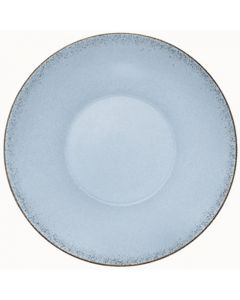 """Modern Rustic - Deep Coupe Plate Natural Blue 9.6"""""""