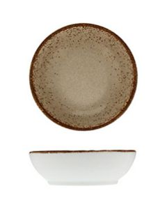 "Modern Rustic - Dish Natural Wood 3.2"""