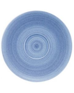 """Modern Rustic Blue - Coupe Saucer 6"""""""