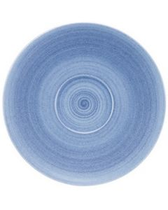 """Modern Rustic Blue - Coupe Saucer 7.6"""""""