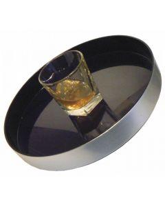 Non-Slip Black Tray Brushed Aluminium